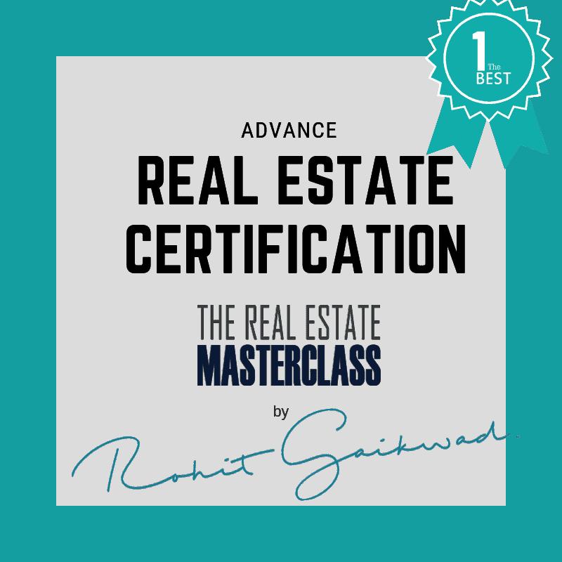 real estate certification rohit gaikwad